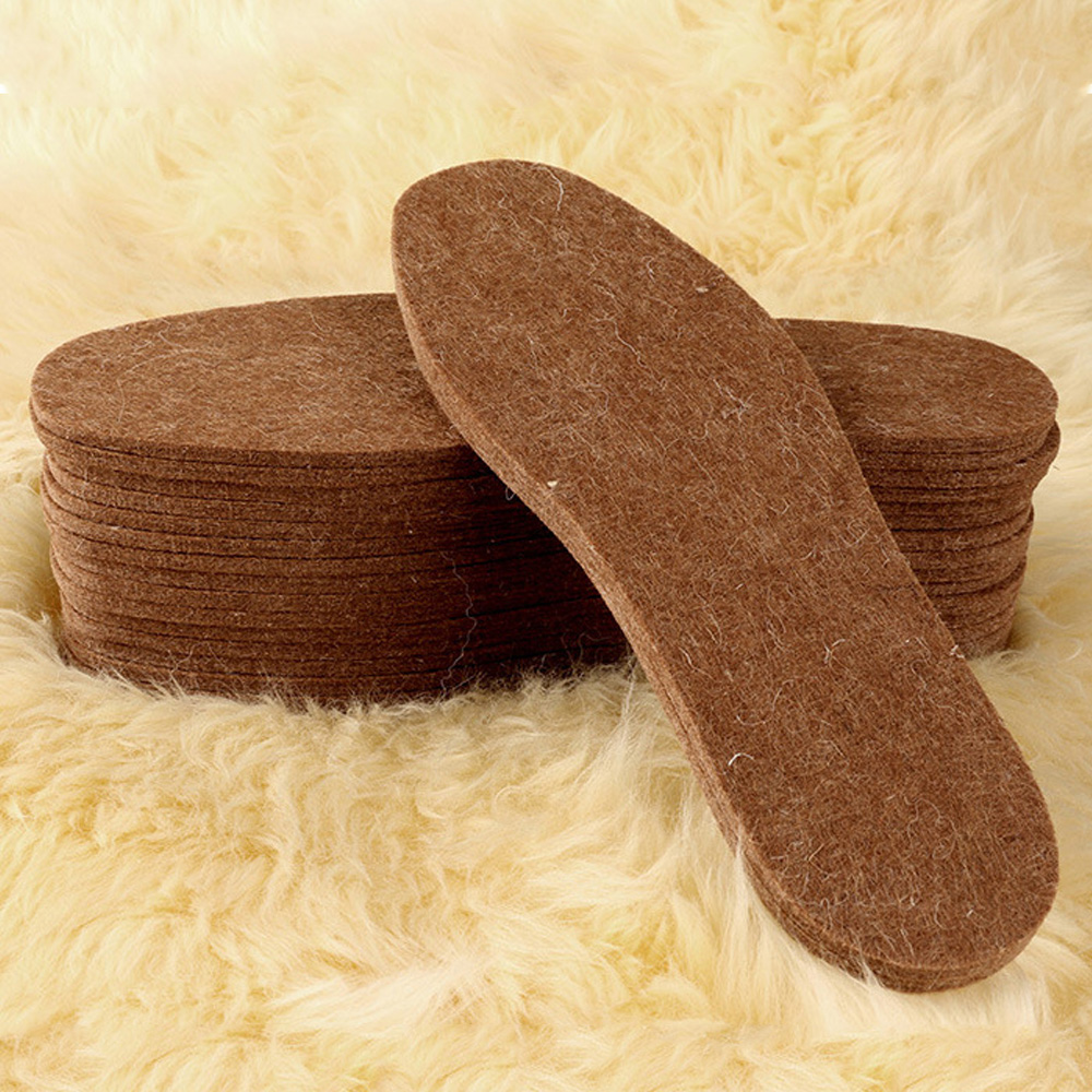 Fleece Lamb Wool Shoes Boots Sneakers Thermal Insoles Inserts Pads BE
