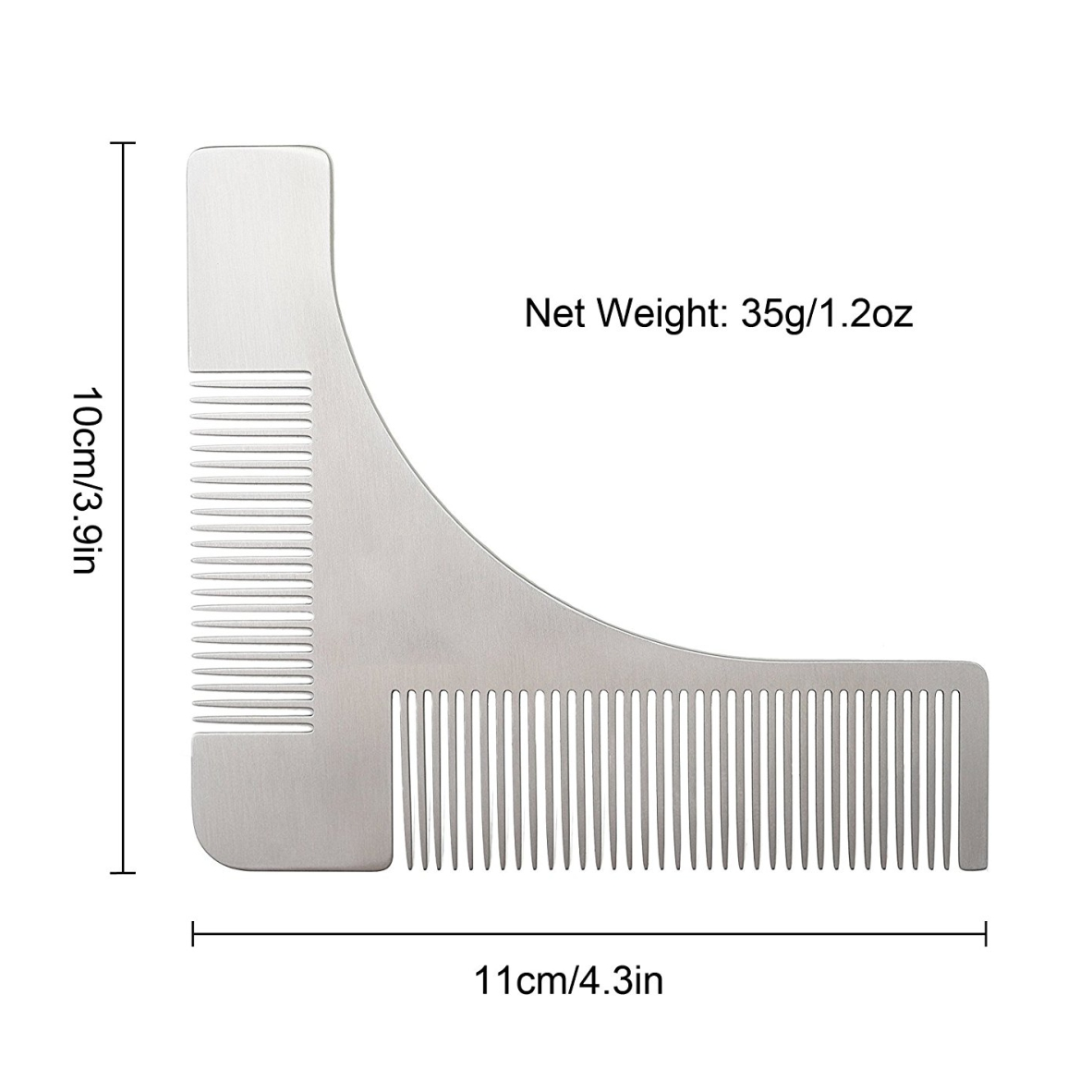 goatee trimming template - beard shaping tool template shaper stencil symmetry
