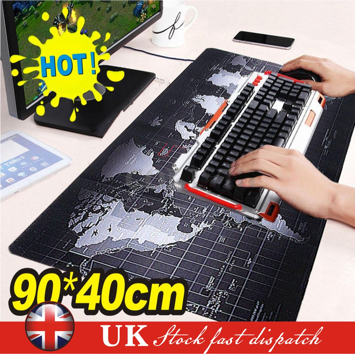 Anti Slip Extra Large Size Gaming Mouse Pad Desk Keyboard Mat for PC Laptop MAC