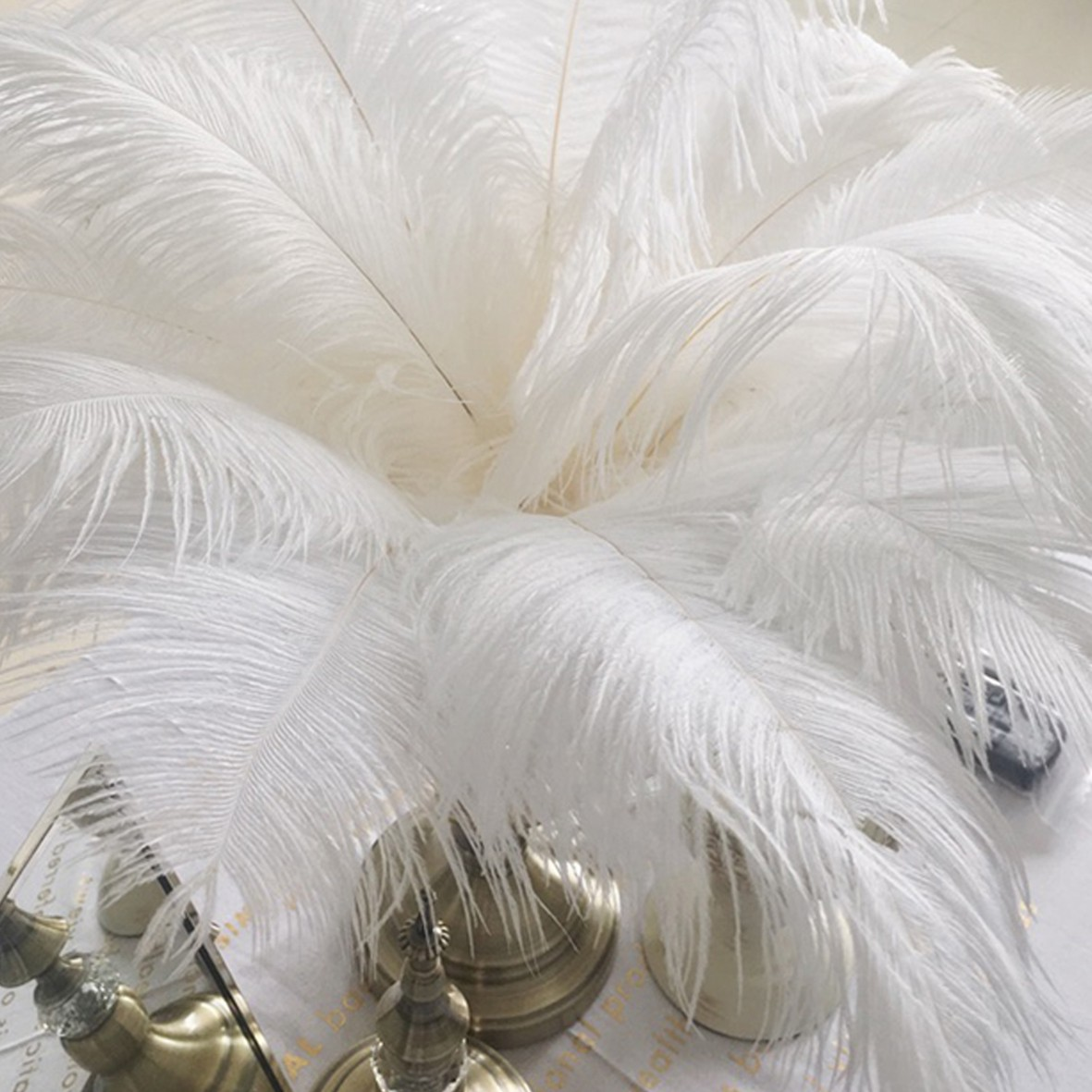25-35CM Beautiful Ostrich Feathers Fly Plume Craft Hat Arts Decorations Party