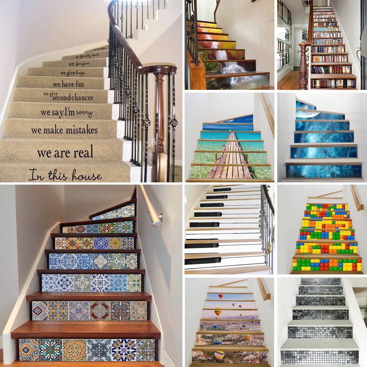 Details about 6 13x 3d stair riser staircase sticker photo mural vinyl decal scenery wallpaper