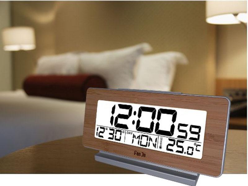 Creative LED Digital Alarm Clock Night Light Thermometer Display Mirror Lamp AA#