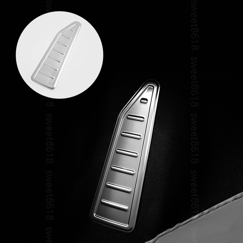 Stainless Footrest Pedal Cover Foot Rest Pad Trim Panel For HONDA CRV CR-V 12-16