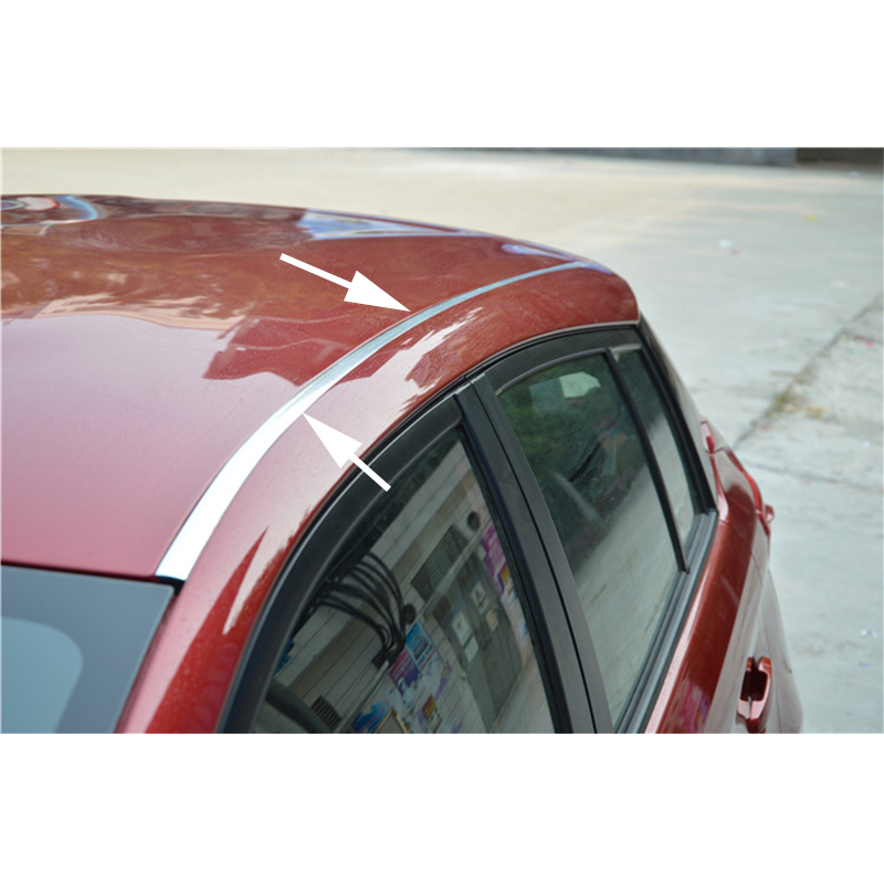 """3//4/"""" /& 12ft CHROME AUTO ROOF TOP CHANNEL TRIM MOLDING COVER KIT Fit For TOYOTA"""