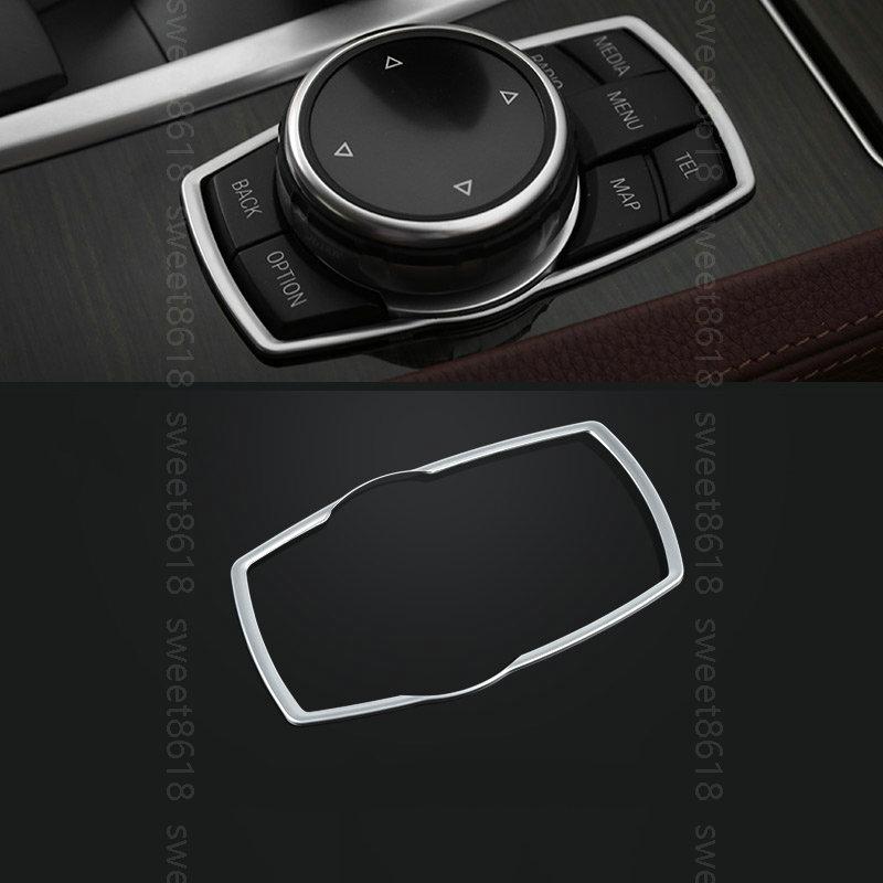 1PCS Interior Decoration Multi-media Button Cover Trim for BMW X6 F16 2015-2017
