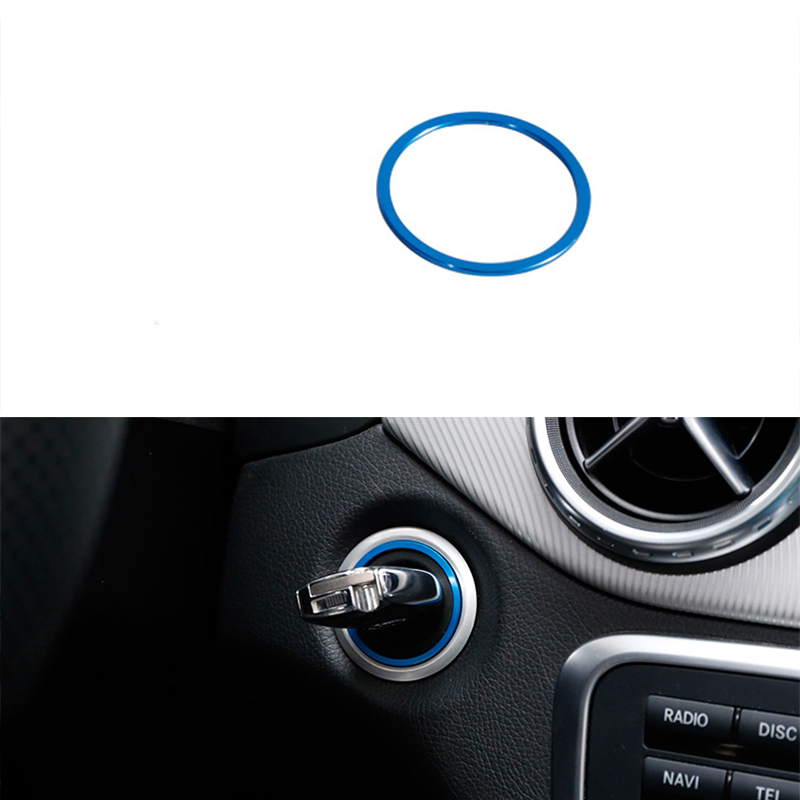 Lgnition Engine Start Button Ring Trim For Mercedes-Benz
