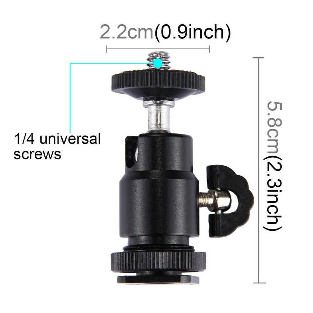 2 Hot Shoe Mount L-bracket Holder Rotatable For Video LED Light Camera Flash、Fad