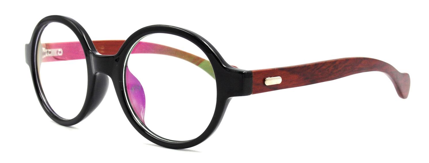 vintage oval round wood eyeglasses frames rx able - Wood Eyeglass Frames