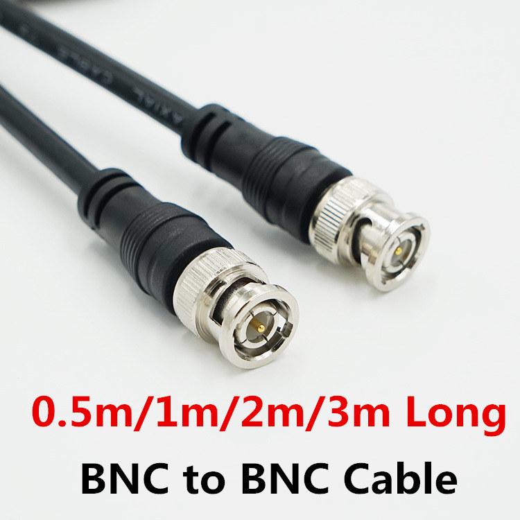 1x BNC Male to RCA Male 75ohm Audio Video Lead Coax Cable For CCTV Camera 3M UE