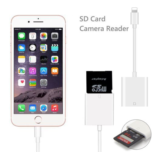 new product 8d803 2d6cb Details about Lightning To Camera SD Card Reader Adapter Cable for iPhone X  7 8 RS Apple iPad