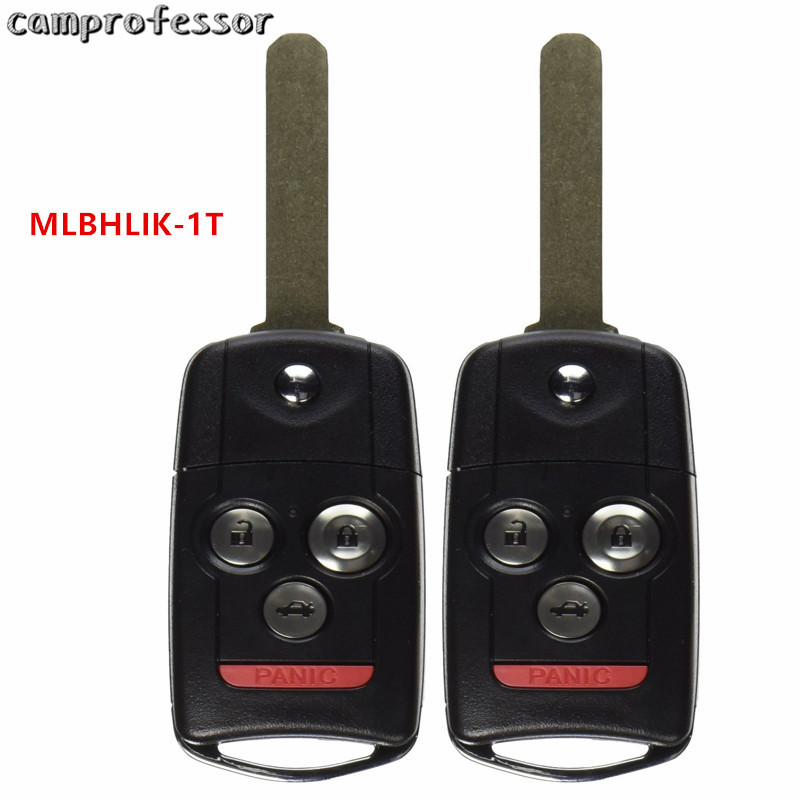 2PCS New Uncut Replacement Keyless Entry Remote Car Fob