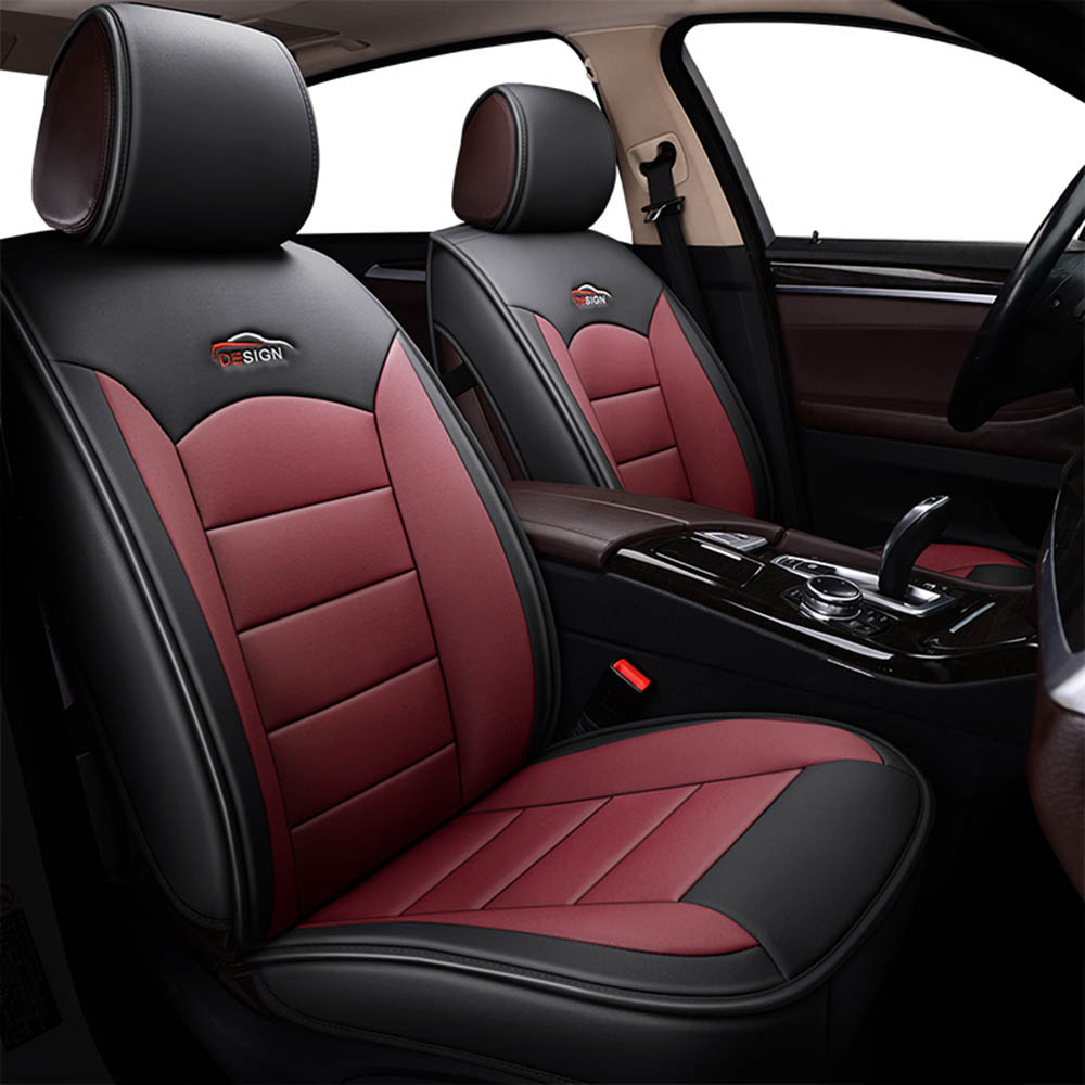 Terrific Details About Black Red Car 5 Seat Leather Seat Covers Cushion For Toyota Camry Corolla Rav4 Gamerscity Chair Design For Home Gamerscityorg