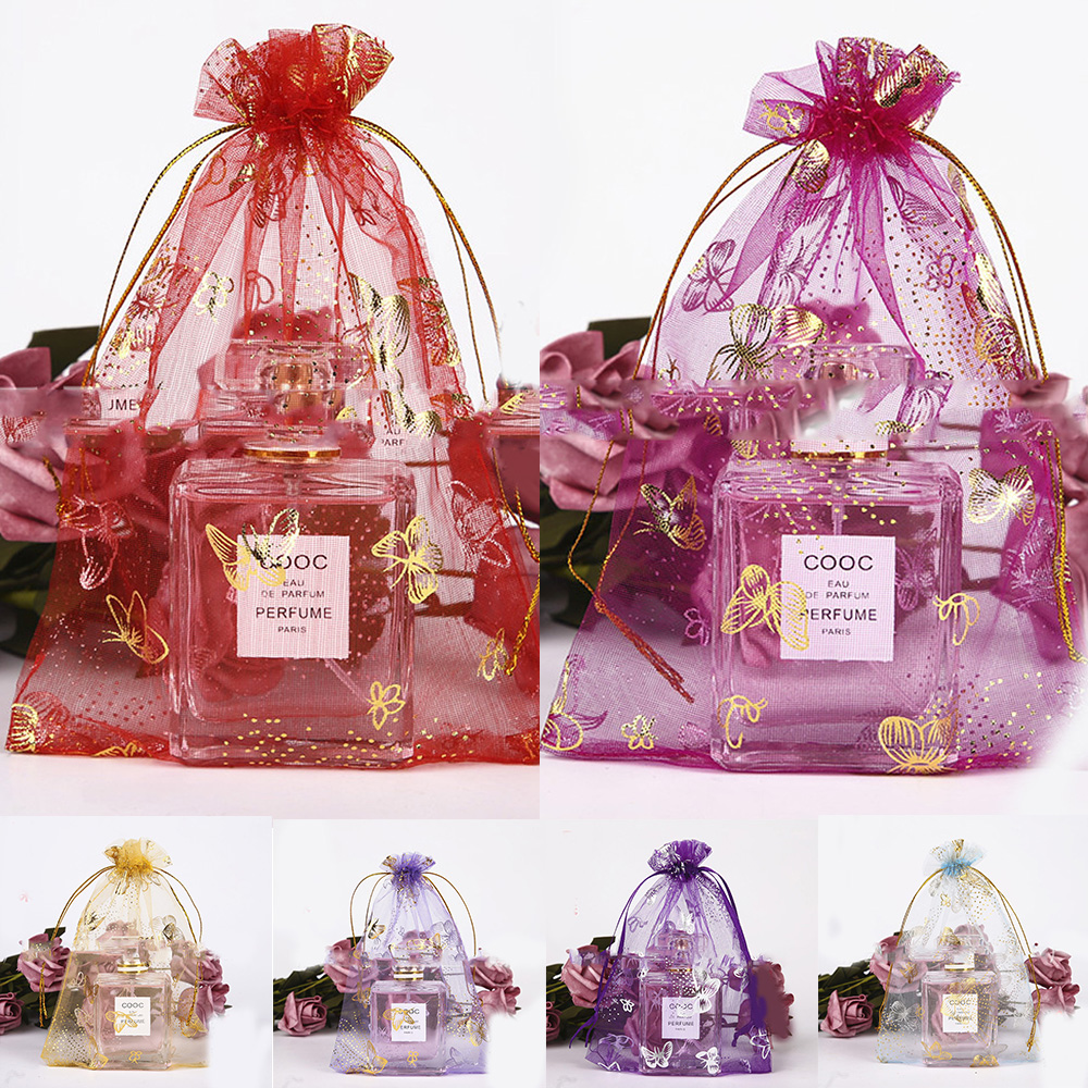 10/50Pc Bronzing Butterfly Bunch Mouth Bag Wedding Gift Storage Bag ...