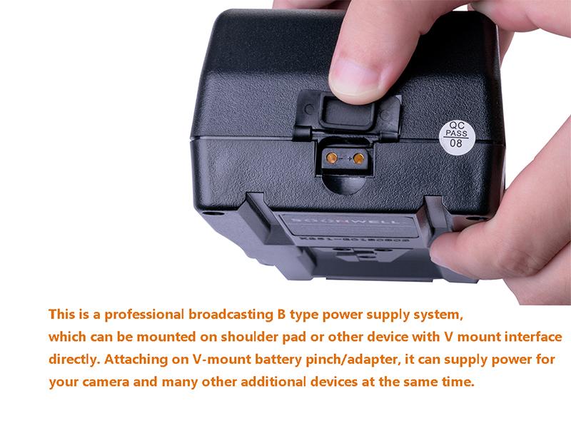 Monitor SOONWELL 230Wh 14.8V V Lock Li-ion Camera Battery Rechargeable V Mount Spare Battery for DSLR Camera,Camcorder,LED Light