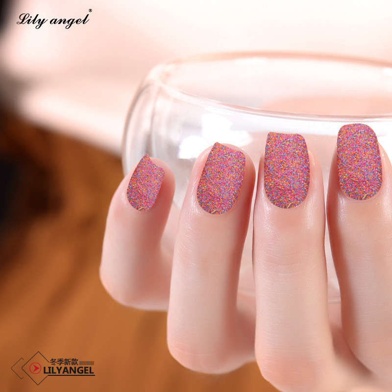 24pcs Art Acrylic Pink Fake Nails Tips Full False Nail French ...