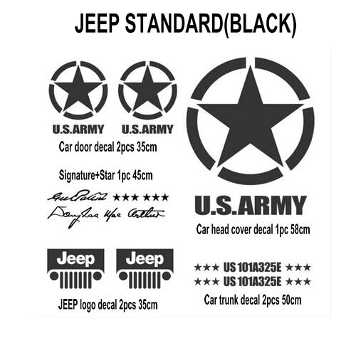 A Set Of Vinyl Band Of Brothers Car Sticker Us Army Suv Auto Decal