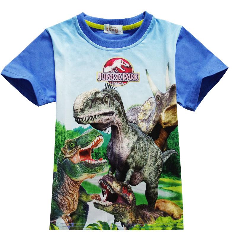 Jurassic Park Jungen Kinder Baumwolle Rundhals Cool Sweatshirt T-Shirt Tops