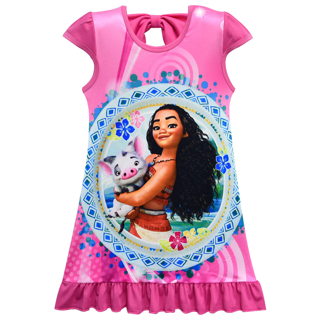 Moana Girls Kids Summer Fashion Nightdress Cosplay Halloween Party Loose Dress Ebay