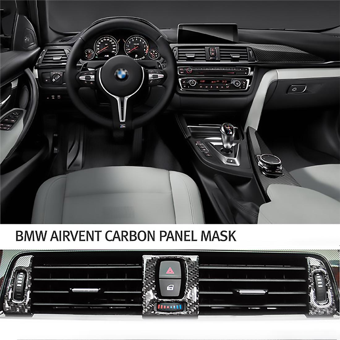 Rbaotech Car Side Air Vent Cover Trim Fender Sticker for Bmw 3 Series F30 2012-2016 Carbon Fiber
