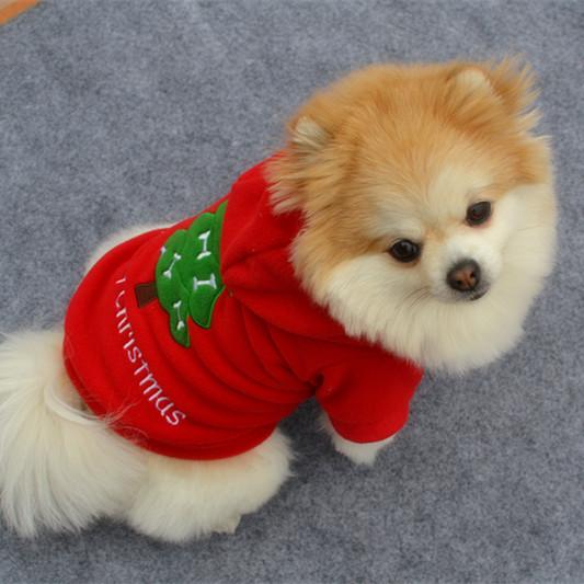 876e4f281 Winter Warm Puppy Pet Cat Dog Hoodie Jumpsuit Christmas Apparel ...