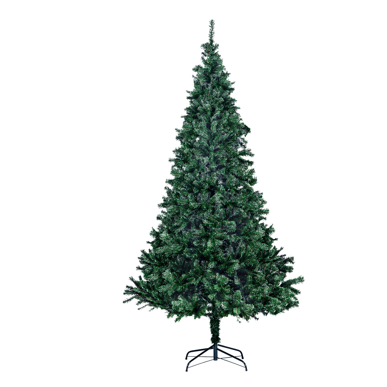 PVC Christmas Tree Artificial W/ Metal Base Indoor Office Party Xmas ...