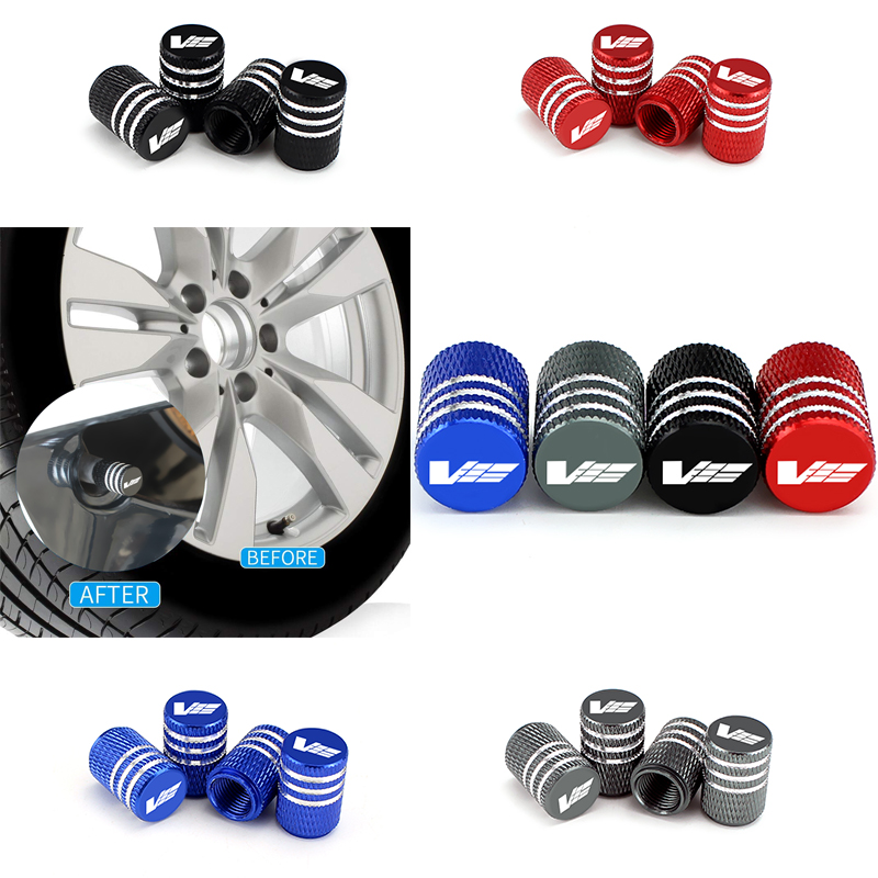 4x Anti-theft Car Wheel Tire Valve Stem Caps Air Dust Cover Logo for Jaguar