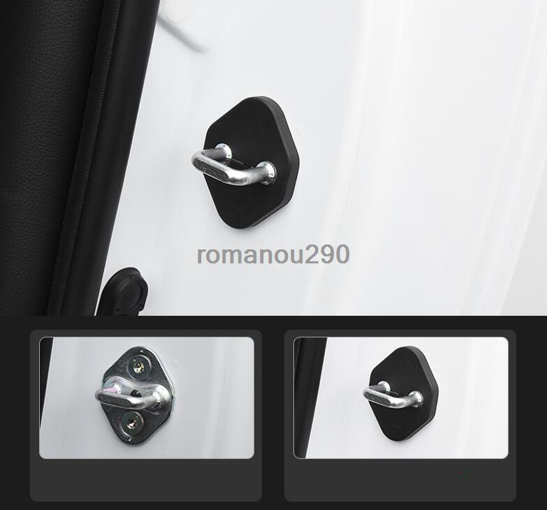 Fit For Acura RDX 2019 ABS Black Door Rust Lock Waterproof