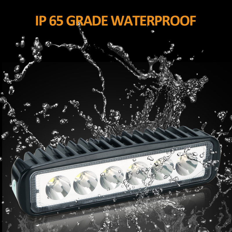 6 Inches Off Road 18W CREE LED Fog DRL Lamp Work Light Bar