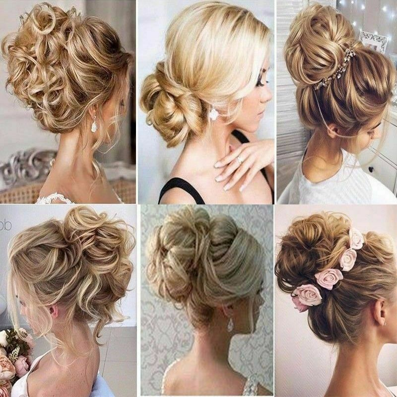 Details About Large Curly Updo Messy Curly Bun Chignon No Clip In Hair Piece Extensions Thick