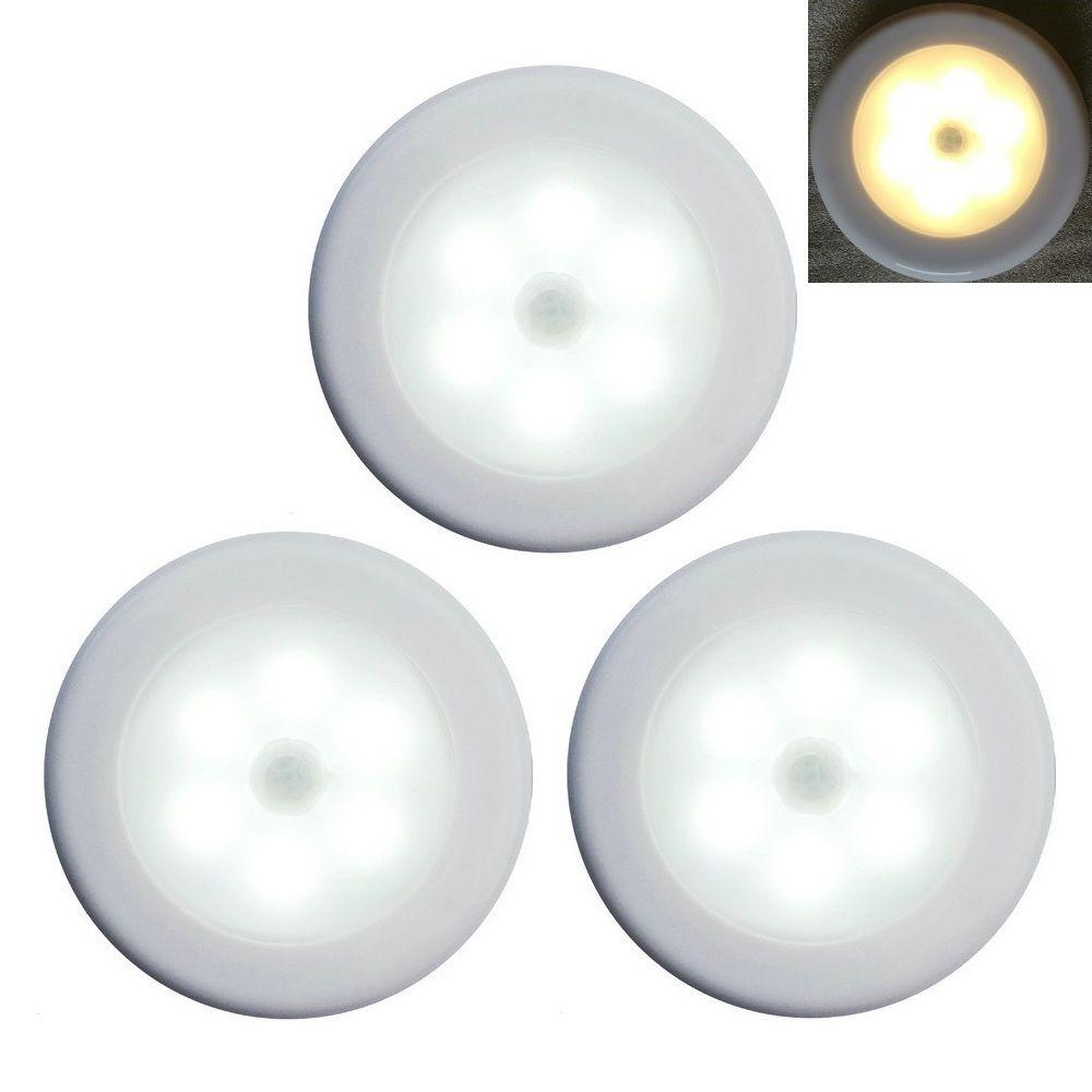 Wireless PIR Auto Motion Sensor Infrared Night Light 6 LEDs Cabinet Lamp RD0600