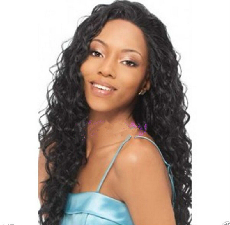 Long Full Wavy Front Lace Wig Afro Kinky Curly Natural Hair Wigs ... 9dc3e5a2568a