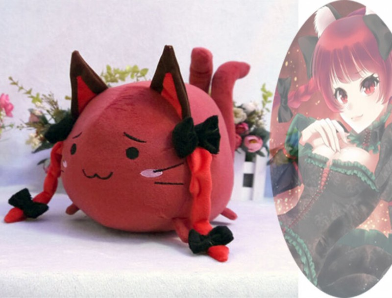 "14/"" Anime Touhou Project Sukusuku Hakutaku Reiuji Utsuho Plush Doll Toy Kid Gift"