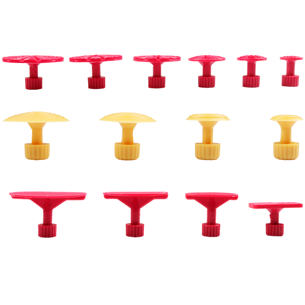 4pcs Glue Puller Tabs For PDR Dent Removal Tools Paintless Dent Repair Yellow
