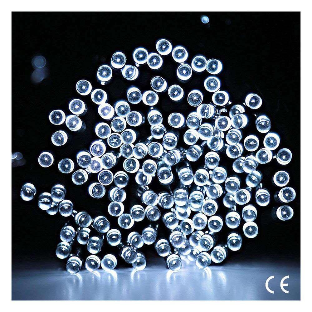 24V 33m 200 LED Kaltweiß Weihnachtsbeleuchtung Lichterkette Outdoor ...