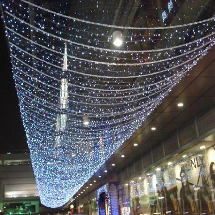 24v 33m 200 led lichterkette vorhang weihnachtsbaum innen au en hanging decor ebay. Black Bedroom Furniture Sets. Home Design Ideas