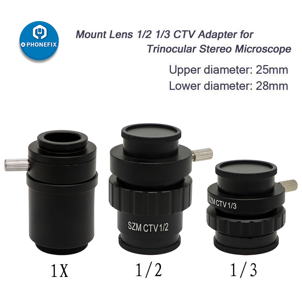 Mount Adapter Lens for Industry Cameras SZMCTV1//2 Stereo Microscope 0.3X 1//3CTV CCD Camera Interface C