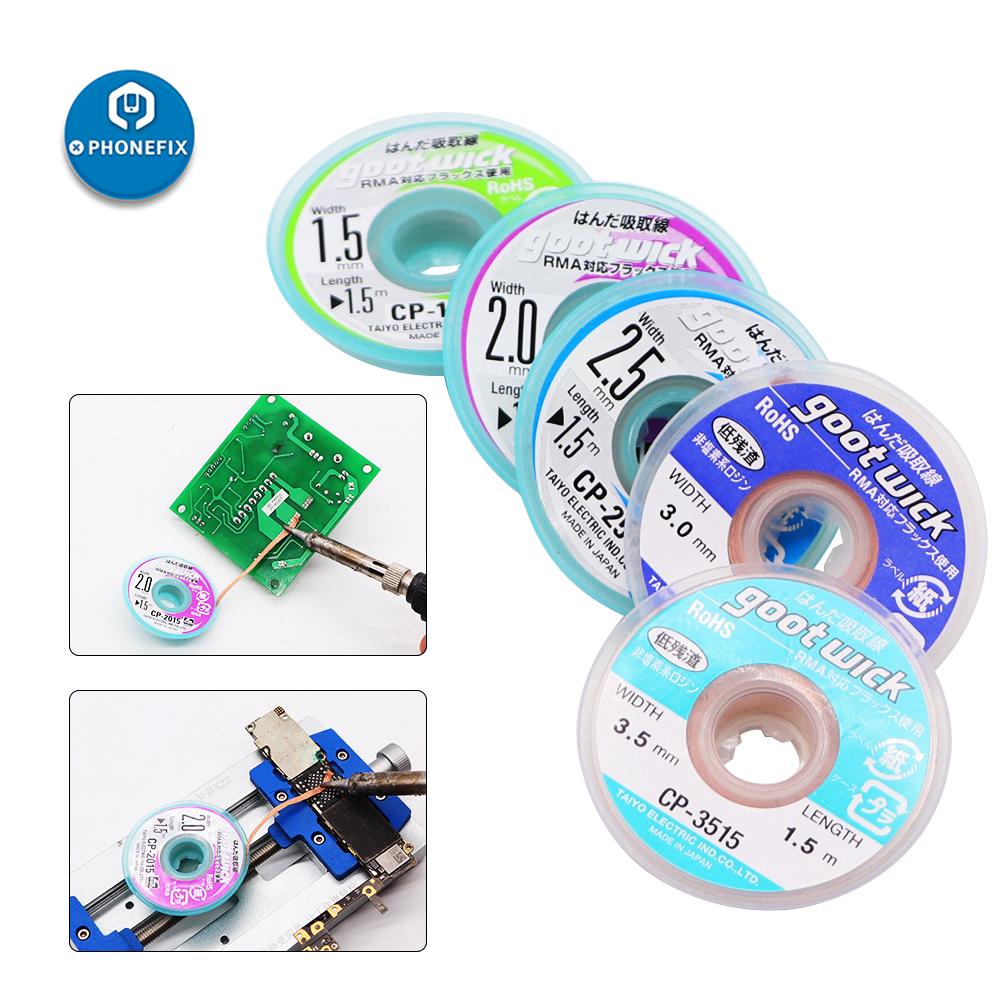 5pcs Goot Wick BGA Desoldering Wire CP-1515 CP-2015 CP-2515 CP-3015 CP-3515