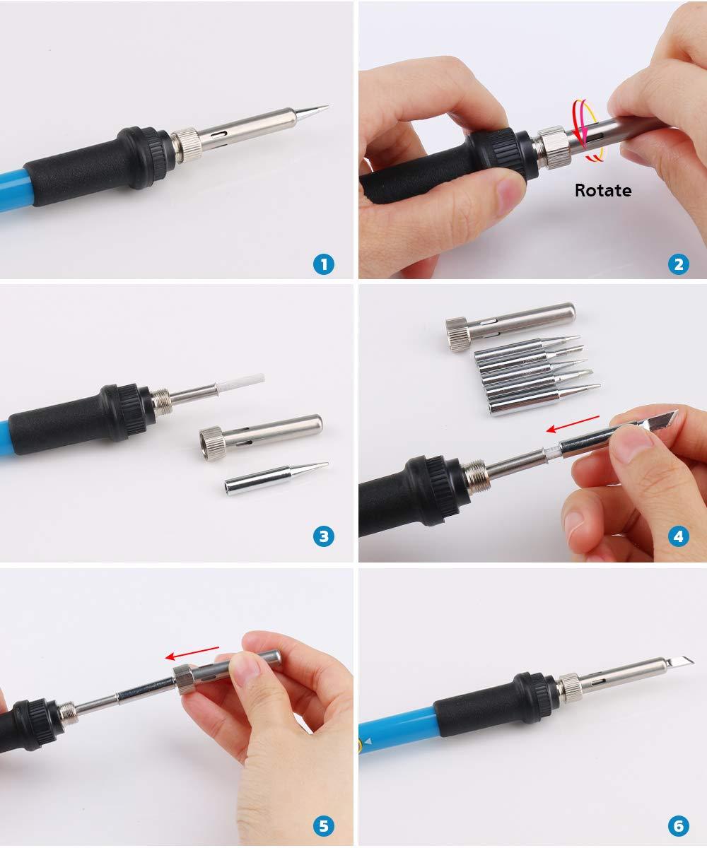soldering iron kit electrical welding tool gun set solder station tip tweezer ebay. Black Bedroom Furniture Sets. Home Design Ideas