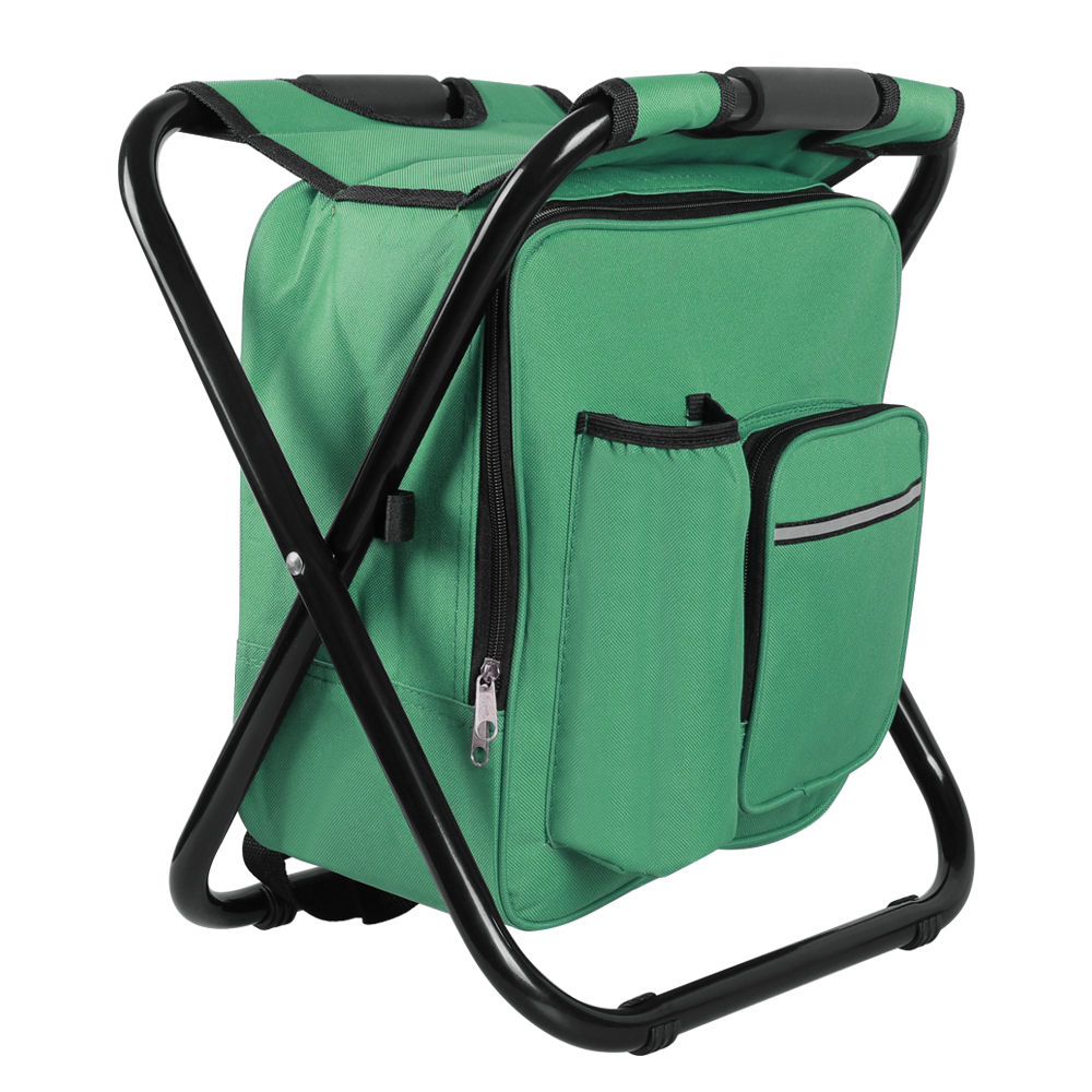 Folding Backpack Beach Chair Seat Stools Cooler Storage