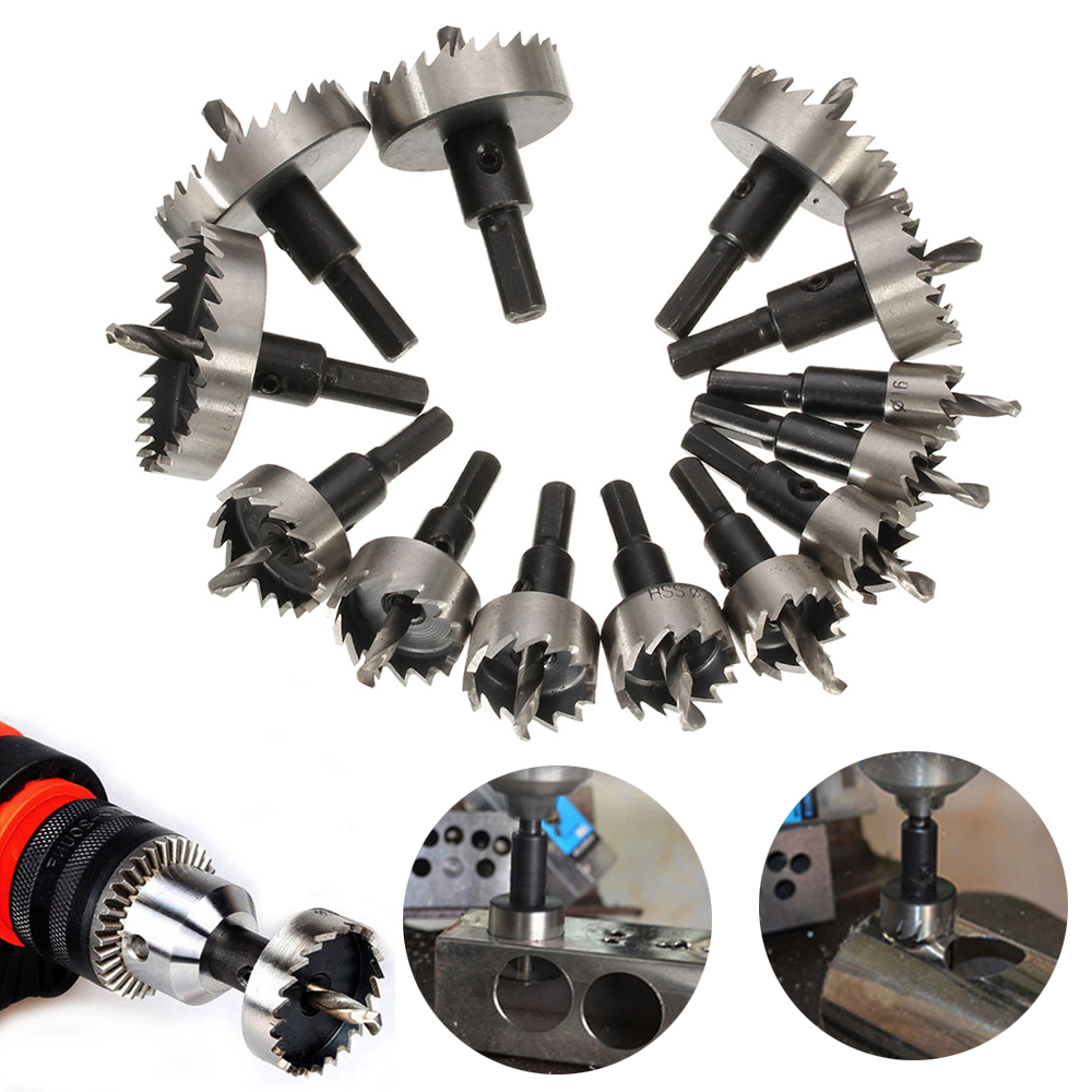 22MM Hole Saw Tooth Kit HSS Steel Drill Bit Set Cutter Tool for Metal Alloy Wood
