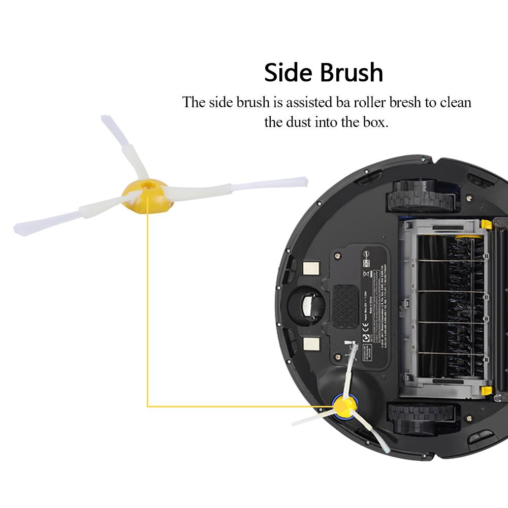6pcs 3-Armed Side Brushes For iRobot Roomba 500//600//700 560 570 760 G6E1 U4B6