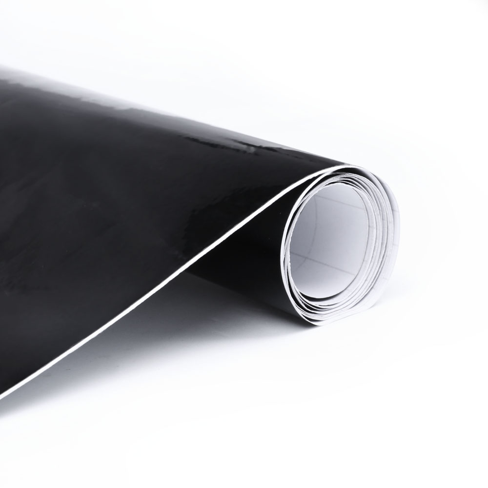 "Premium High Gloss Black Vinyl Wrap Film Sticker Decal Sheet Bubble Free 12/""x60/"""