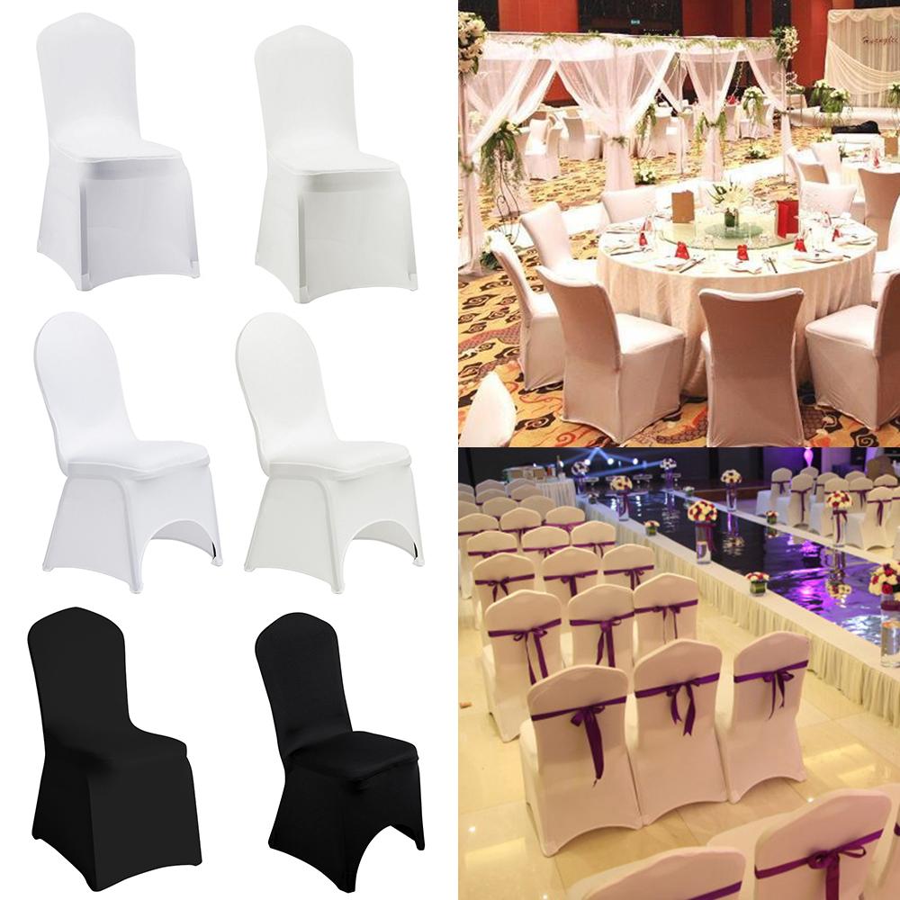 Details About 10 20 50 100 Spandex Banquet Folding Chair Cover Wedding Reception Party Decor