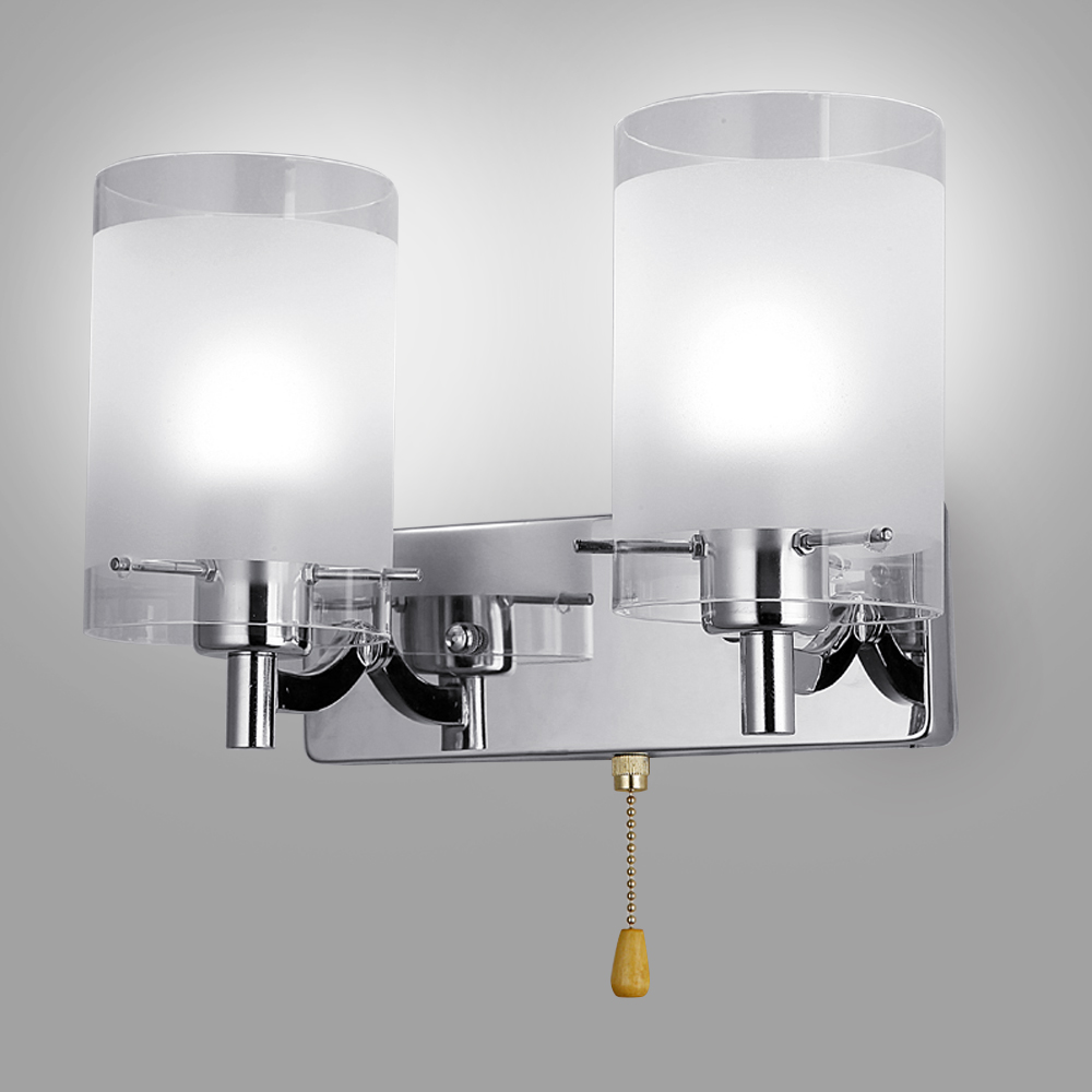 Details About Modern Led Gl Wall Light Lamp Home Bedroom Lighting Fixture Sconce E14 Bulb