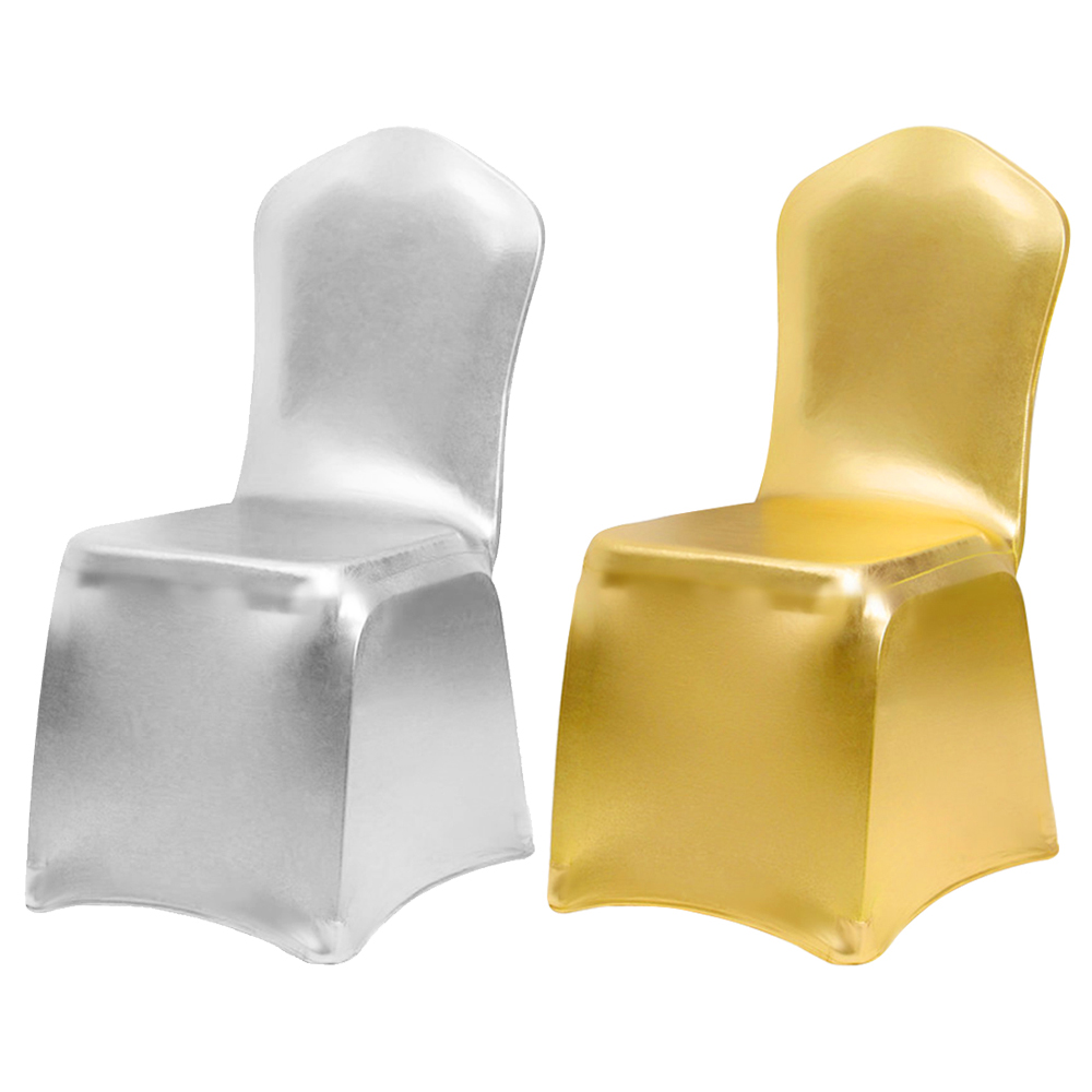 Fantastic Details About 1 6 10X Metallic Gold Silver Spandex Stretch Chair Covers Wedding Party Banquet Beatyapartments Chair Design Images Beatyapartmentscom