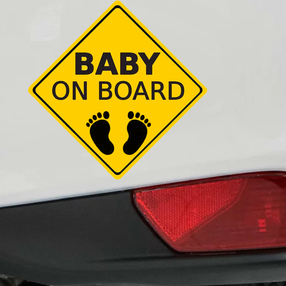 Car Baby On Board Stickers Vehicle Tail Warning Sign Decal Auto Decoration