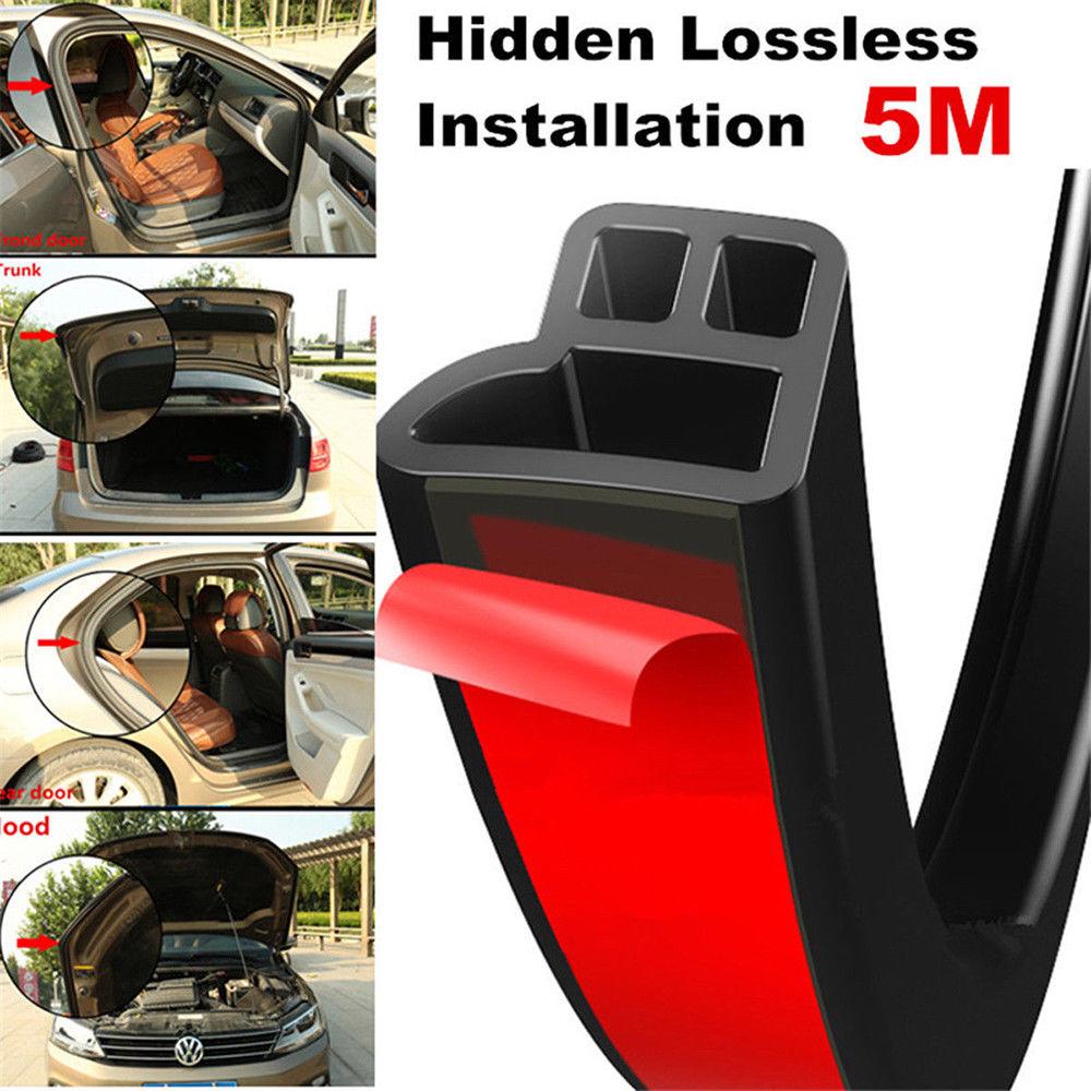 3M T Shape Seal Strip Car Door Hood Trunk Trim Edge Moulding Rubber Weatherstrip