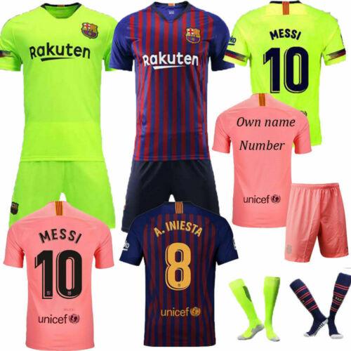 18/19 Boys Kids Football Team Outfit Soccer Kit Jerseys Short Sleeve Shirt Socks Boys' Clothing (2-16 Years)