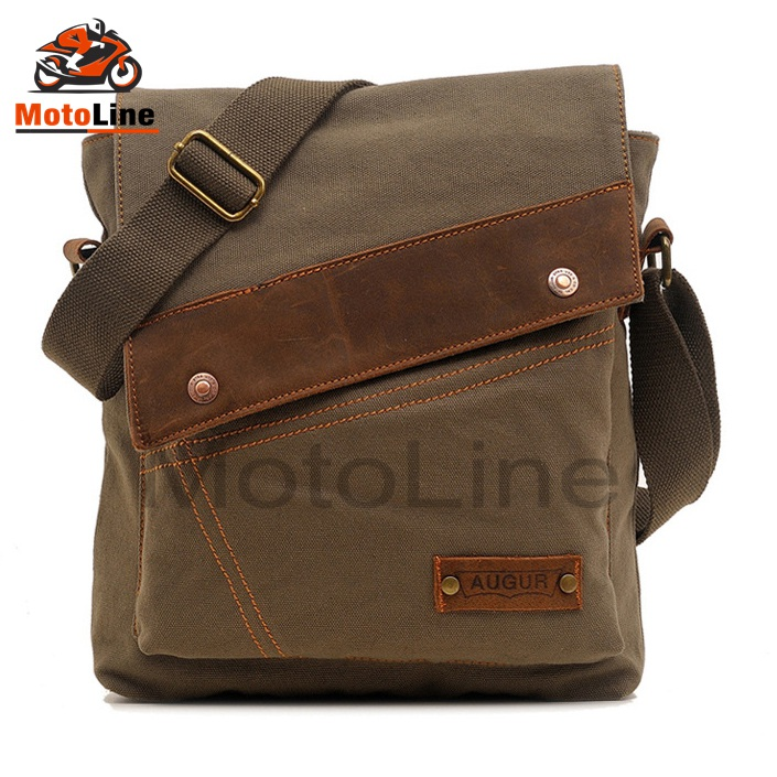 3-Color-Vintage-Canvas-Leather-Satchel-School-Military-Shoulder-Messenger-Bag