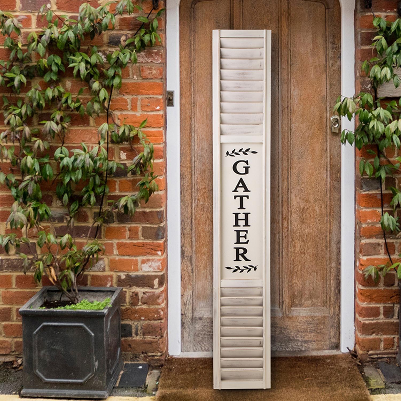 "Wood Porch Tall Sign HOME Paw Print Porch Vertical 26/"" White Farmhouse Handmade"